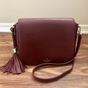 Kate Spade Chepstow Road Elliot Red Saddle Bag
